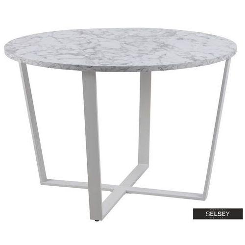Selsey stół adhafera biały średnica 110 cm (5903025415857)