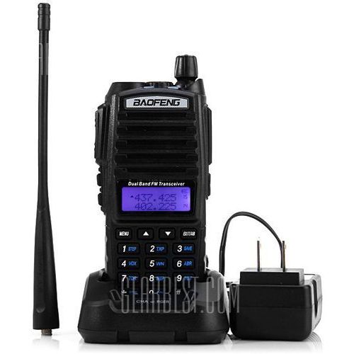 Baofeng UV82 VHF / UHF Dual Band Programmable Walkie Talkie Two - way Radio FM Transceiver Handheld Interphone with Flashlight