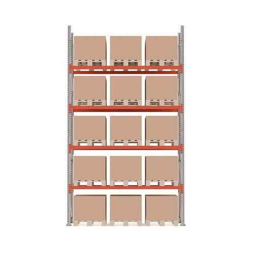 Aj produkty Regał paletowy ultimate, moduł podstawowy, 5000x2750x1100 mm, 15 palet, 500 kg/paleta