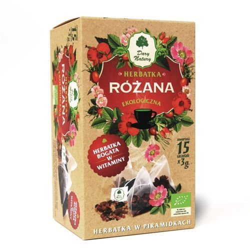 Dary Natury Różana herbatka ekologiczna bogata w witaminy 100% EKO 15x3g, 5902741004321