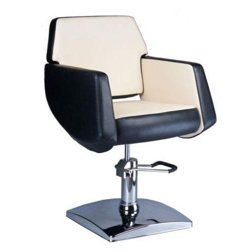Beauty system Fotel fryzjerski nico czarno-kremowy bd-1088