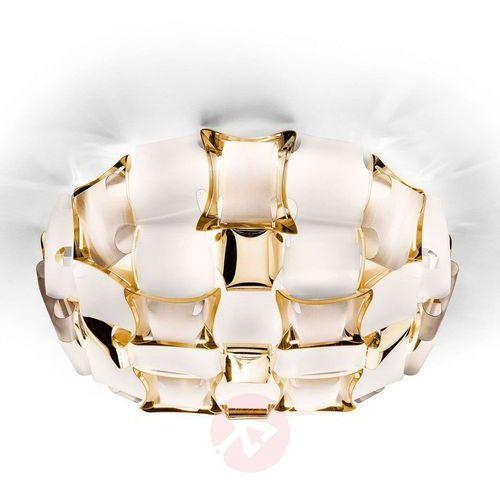 clizia lampa sufitowa, Ø 67 cm, złota/ biała marki Slamp