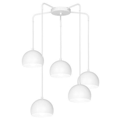 Lampa wisząca sool 5 x 60 w e27 biała marki Luminex