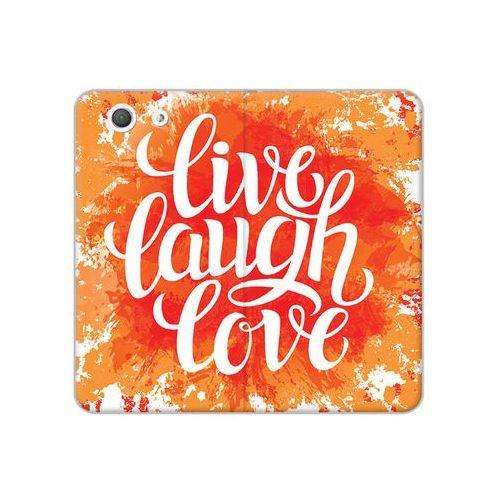 Sony Xperia Z3 Compact - etui na telefon Flex Book Fantastic - live laugh love