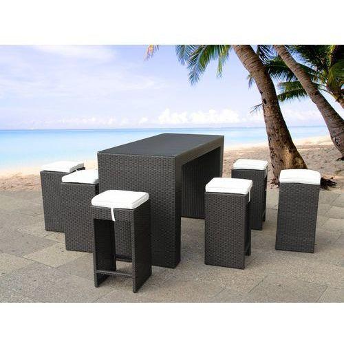 Rattanowy zestaw mebli ogrodowych stół 6 stołków barowych VERONA