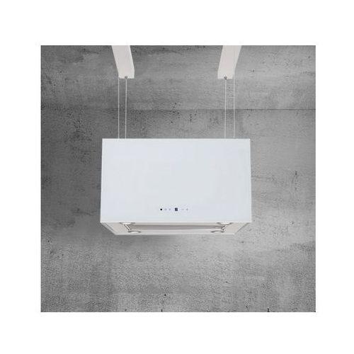 Okap wyspowy na lince Italo Max Glass Biały 60 cm, 635 m3/h