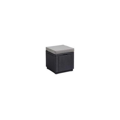 Stolik z siedziskiem i schowkiem 3w1 (grafitowo-jasnoszary) Cube Keter, kolor szary