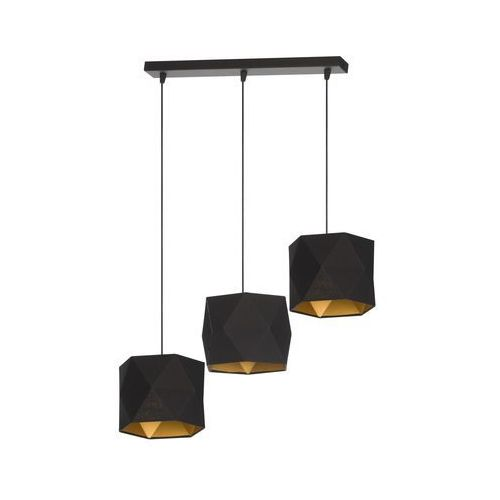 Lampa wisząca Taida 3 czarna Producent Lampex, kolor Czarny