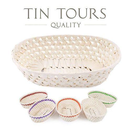Tin tours sp.z o.o. Owalny koszyk z liści palmy 32x20x9h cm - różne kolory