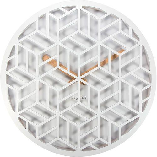 Nextime Zegar ścienny discrete biały (3215 wi) (8717713019091)