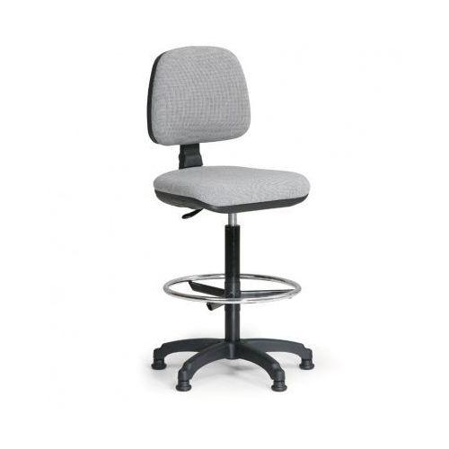 Podwyższone krzesło biurowe milano z podnóżkiem - szare marki B2b partner