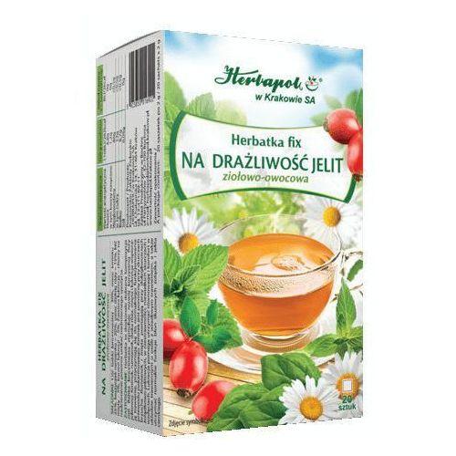 Herbatka fix na drażliwość jelit x 20 saszetek marki Herbapol kraków