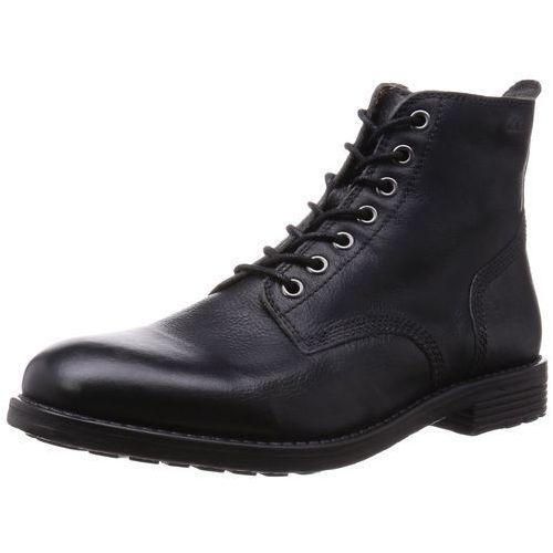 Clarks faulkner Rise, męskie buty z krótką cholewką - czarny - 43 EU, Faulkner Rise-Black Leather