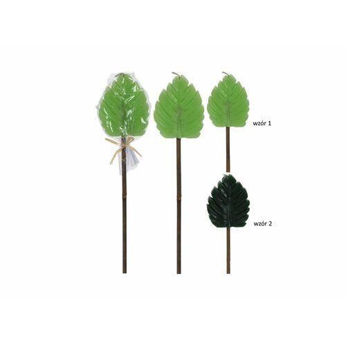 Świeca ogrodowa liść marki Black red white