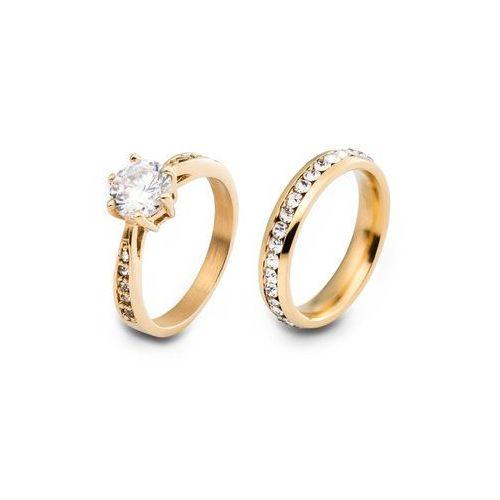 Komplet 2 pierścionków bonprix złoty kolor, kolor żółty