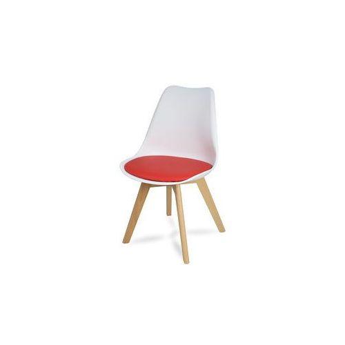 """Krzesło """"Scandi II"""" - różne kolory z bukowymi nogami, kolor szary"""