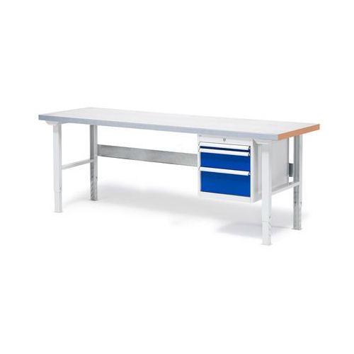 Stół warsztatowy o powierzchni z płyty stalowej 800x750x2000mm, 232236