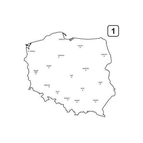 Tablica suchościeralna mapa polski 239 marki Wally - piękno dekoracji