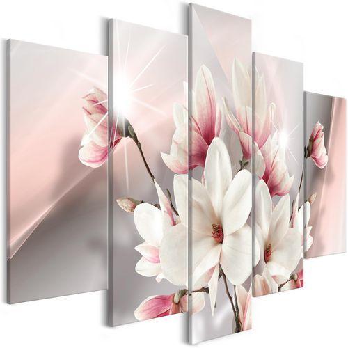 Obraz - magnolia w rozkwicie (5-częściowy) szeroki marki Artgeist