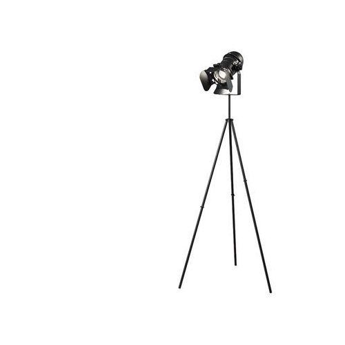 Vente-unique Lampa podłogowa projection na trójnogu w industrialnym stylu – żelazo – wysokość 146 cm – kolor czarny