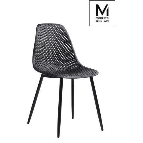 MODESTO krzesło TIVO czarne - polipropylen, metal, kolor czarny