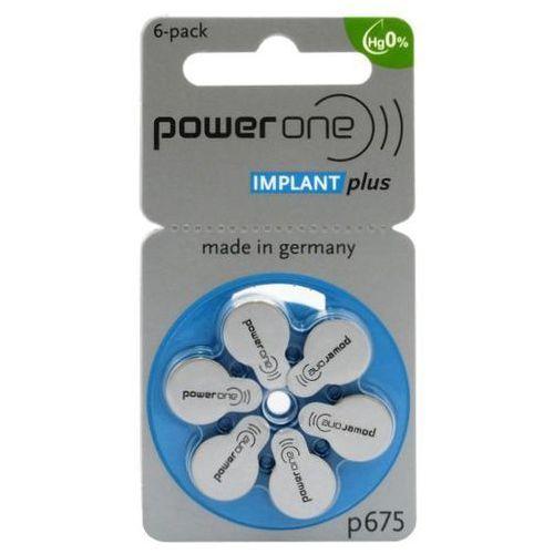 6 x baterie do aparatów słuchowych Power One Implant Plus 675 MF - produkt z kategorii- Baterie