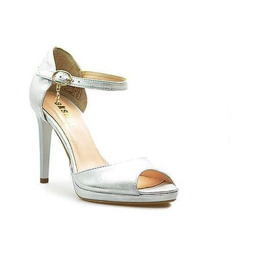 Sandały 36-4114-369-1g srebro lico marki Eksbut