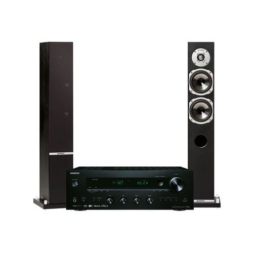 Onkyo Zestaw stereo tx-8250b + quadral rhodium 500 czarny