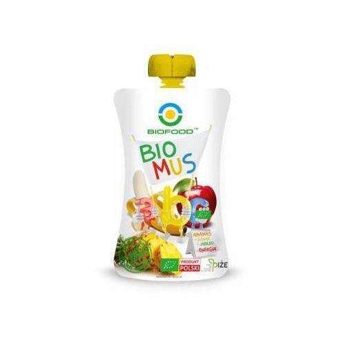 BIO FOOD 90g Mus z ananasów bananów i jabłek BIO