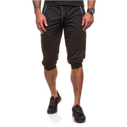 J.style Krótkie spodenki dresowe męskie czarne denley 6006