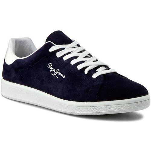 Sneakersy PEPE JEANS - Kentucky Suede PMS30222 Marine 585, kolor niebieski