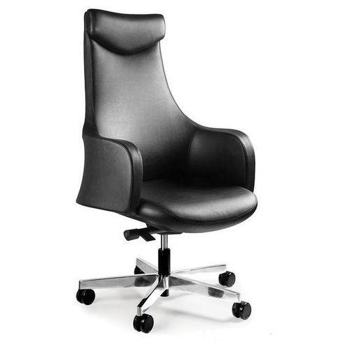 Fotel biurowy BLOSSOM czarny skóra naturalna