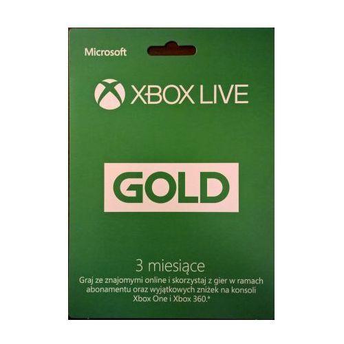 ABONAMENT XBOX LIVE GOLD 3 MIESIĄCE - sprawdź w wybranym sklepie
