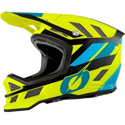 blade kask rowerowy żółty/niebieski xl | 61-62cm 2019 kaski rowerowe marki Oneal