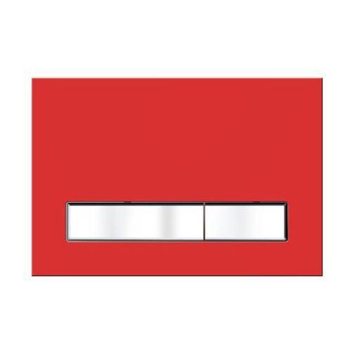 Kk-pol Przycisk spłukujący do stelaża vitrum grande czerwony (5906190450555)