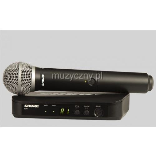 Shure BLX24/PG58 PG Wireless mikrofon bezprzewodowy doręczny PG58, pasmo H8E, towar z kategorii: Mikrofony
