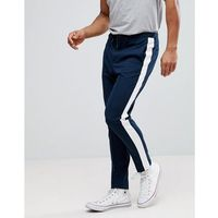 Selected Homme Tapered Trousers With Stripe - Navy, 1 rozmiar