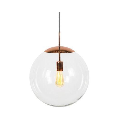 Qazqa Lampa wisząca miedź przezroczyste szkło 40cm - ball
