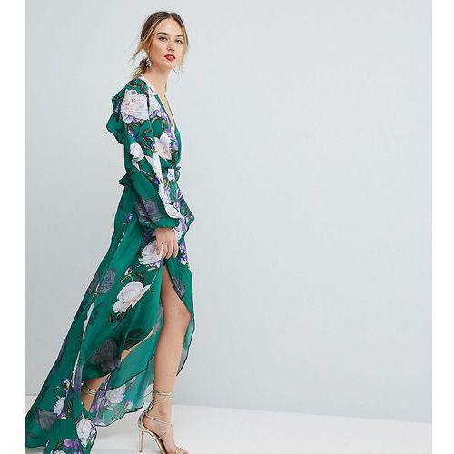 floral print ruffle maxi dress - multi, Asos tall