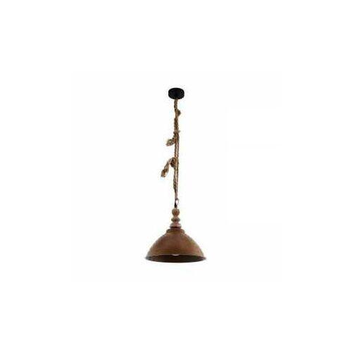 Eglo Riddlecombe 33026 lampa wisząca zwis 1x60W E27 czarny/brązowy