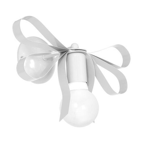 Decoland Kinkiet lampa ścienna emma mlp1035 milagro dekoracyjna oprawa do pokoju dziecięcego kokarda biała (5902693746454)
