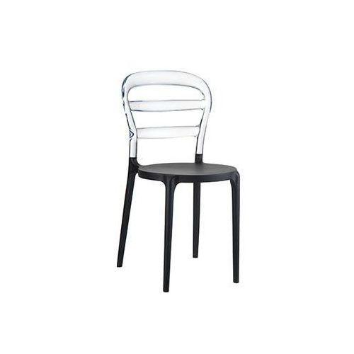 Resol Krzesło miss bibi - czarny ||transparentny (8697443551095)