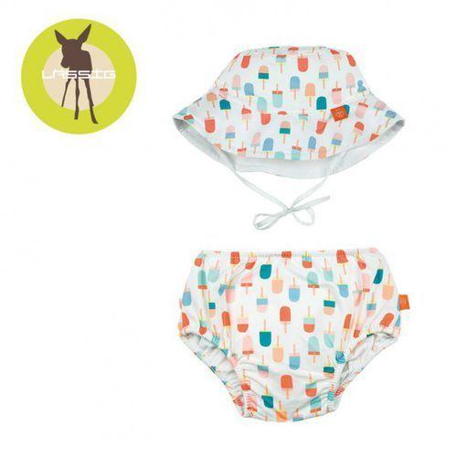 Lassig Zestaw kapelusz i majteczki do pływania z wkładką chłonną Ice Cream UV 50+