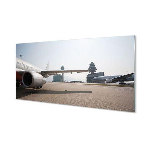 Obrazy akrylowe samolot budynki lotnisko niebo marki Tulup.pl