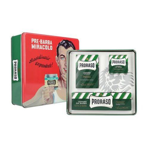 Proraso classic shaving metal gino zestaw kosmetyków do golenia z zielonej linii