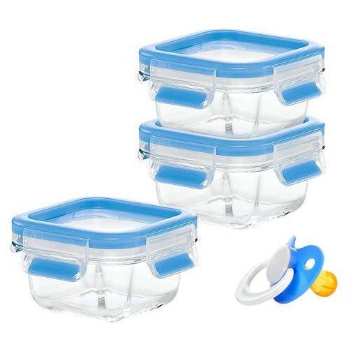 , zestaw 3 szklanych pojemników, clip & close glass, zestaw baby, poj. 3x0.2 l, nr 515988, marki Emsa