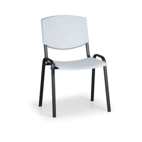 Krzesło konferencyjne Smile, szary - kolor konstrucji czarny