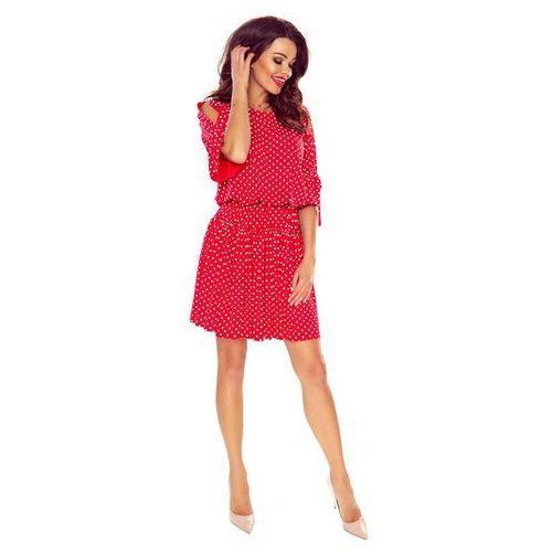 Czerwona sukienka w stylu boho w groszki, Bergamo, 36-42