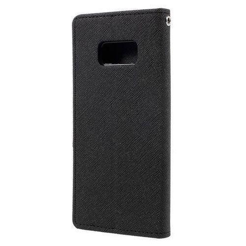 Mercury Fancy Diary - Etui Samsung Galaxy S8 z kieszeniami na karty + stand up (czarny), kolor czarny
