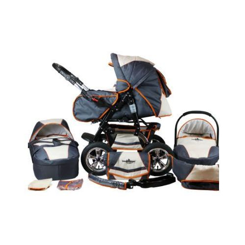 BERGSTEIGER Wózek spacerowy Milano - zestaw beige & grey